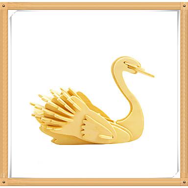 3D-puzzels Legpuzzel Houten modellen Modelbouwsets Zwaan 3D Dieren DHZ Puinen Hout Kinderen Geschenk