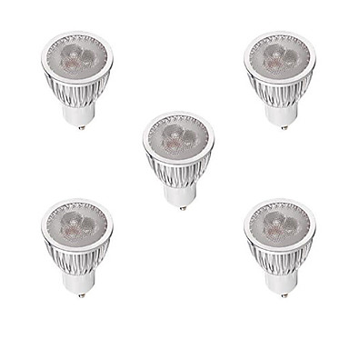 3W 260-300 lm GU10 LED-spotlampen MR16 3 leds Krachtige LED Dimbaar Warm wit Wit AC 220-240V
