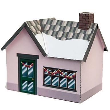 3D - Puzzle Papiermodelle Quadratisch Haus 3D Heimwerken Hartkartonpapier Zeichentrick Unisex Geschenk