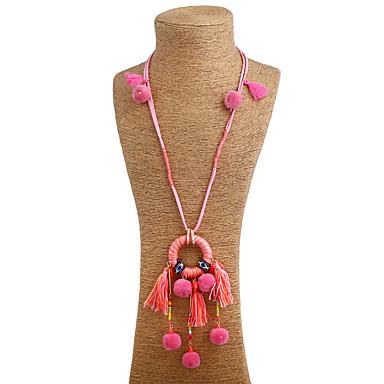 Damen Einzelkette Geometrische Form Gestalten Einzigartiges Design Anhänger Stil Quaste Böhmische Grundlegend Handgemacht Halsketten