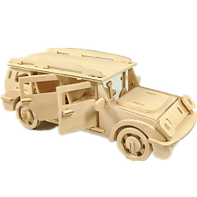 لعبة سيارات قطع تركيب3D تركيب النماذج الخشبية طيارة سيارة 3D اصنع بنفسك خشب كلاسيكي SUV صبيان للجنسين هدية