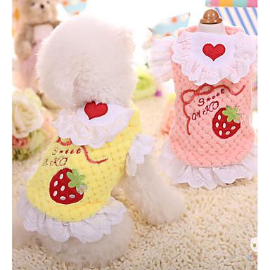 Câine Haine Îmbrăcăminte Câini Keep Warm Dulce Fruct Costume Pentru animale de companie