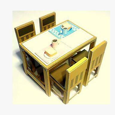 Puzzle 3D Lucru Manual Din Hârtie Pătrat Mobila Scaun 3D Reparații Hârtie Rigidă pentru Felicitări toate vârstele