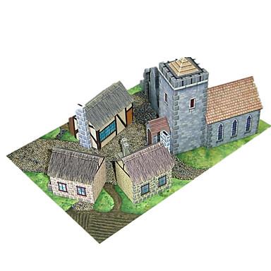 3D-puzzels Papierkunst Modelbouwsets Beroemd gebouw Architectuur 3D DHZ Hard Kaart Paper Klassiek Unisex Geschenk