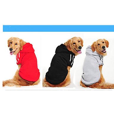 كلب كنزة ملابس الكلاب سادة أسود رمادي أصفر أحمر قطن كوستيوم للحيوانات الأليفة كاجوال/يومي