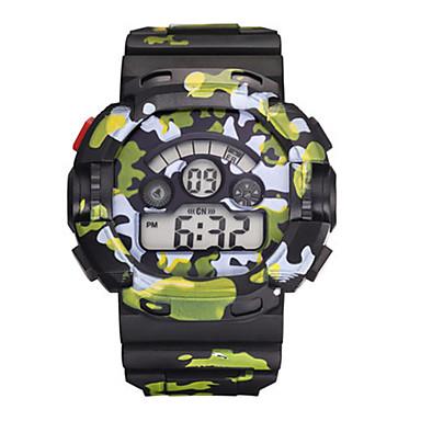 Heren Jongens Sporthorloge Digitaal horloge Digitaal Waterbestendig s Nachts oplichtend Rubber Band Meerkleurig