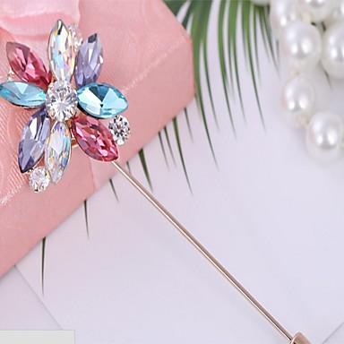 Damen Broschen Kubikzirkonia Blumig Blumen Stil Blumen Zirkon Blume Schmuck Für Geburtstag Valentinstag