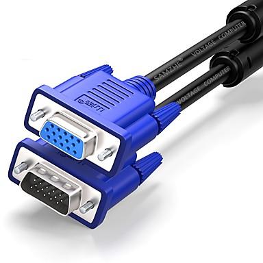 VGA وصلة تمديد, VGA to VGA وصلة تمديد ذكر - انثى النيكل مطلي الصلب 3.0M (10FT)