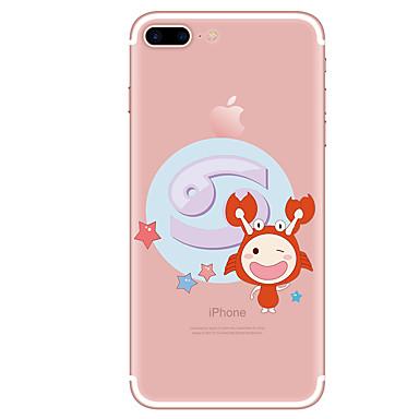 hoesje Voor Apple iPhone 7 Plus iPhone 7 Transparant Patroon Achterkant Cartoon Zacht TPU voor iPhone 7 Plus iPhone 7 iPhone 6s Plus