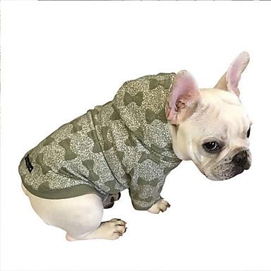 Hund Kapuzenshirts Hundekleidung Schleife Grün Blau Rosa Baumwolle Kostüm Für Haustiere Herrn Damen Lässig / Alltäglich