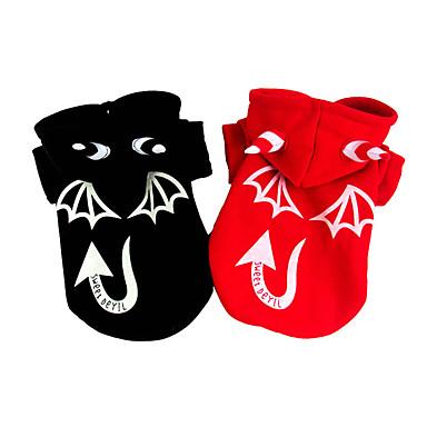 Hund Kostüme Hundekleidung Cartoon Design Schwarz Rot Baumwolle Terylen Kostüm Für Haustiere Halloween