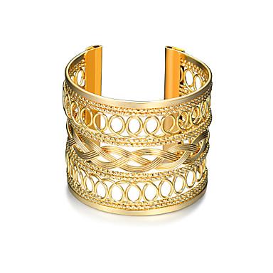Damen Geometrisch / Hohl Manschetten-Armbänder / Breites Armband - Punk, Modisch Armbänder Gold Für Weihnachts Geschenke / Geburtstag / Geschenk