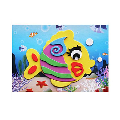 قطع تركيب3D ملصقات اصنع بنفسك كلاسيكي للأطفال هدية