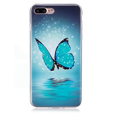 Fall für Apfel iphone 7 plus 7case Abdeckung glühen im dunklen imd Muster rückseitige Abdeckungsfall Schmetterling weiches tpu für iphone