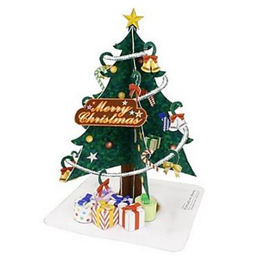 Speelgoedauto's 3D-puzzels Bouwplaat Kerstbomen Trein Politieauto Ambulance Speeltjes Kerstmis Vliegtuig Trein Schip Bus DHZ Niet