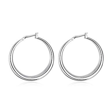 Dames Ring oorbellen Euramerican Verzilverd Ronde vorm Sieraden Voor Dagelijks