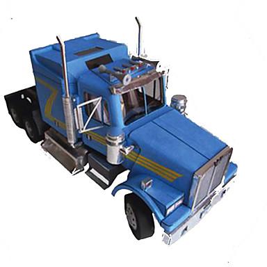 Jucării pentru mașini Puzzle 3D Modelul de hârtie Pătrat Camion Reparații Hârtie Rigidă pentru Felicitări Clasic Camion Băieți Unisex