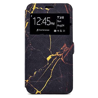 Hülle Für Samsung Galaxy J7 (2016) J5 (2016) Kreditkartenfächer mit Halterung Muster Ganzkörper-Gehäuse Marmor Hart PU-Leder für J7