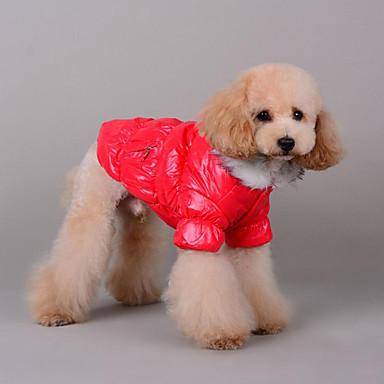 كلب المعاطف جاكيتات ريش ملابس الكلاب كاجوال/يومي سادة أرجواني كوفي أحمر أزرق أسود كوستيوم للحيوانات الأليفة