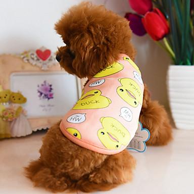 Hond Gilet Hondenkleding Cartoon Oranje Donkerblauw Blauw Fleece Kostuum Voor huisdieren Casual/Dagelijks