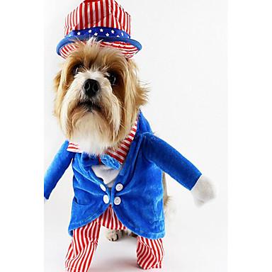 Hond kostuums Hondenkleding Halloween Fun & Whimsical Feest Cosplay Band Groen Blauw Kostuum Voor huisdieren
