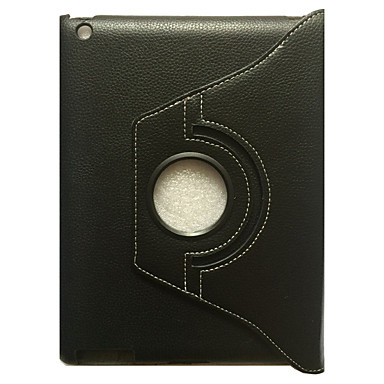 Voor Hoesje cover met standaard Flip 360° rotatie Volledige behuizing hoesje Effen Kleur Hard PU-leer voor Apple iPad 4/3/2