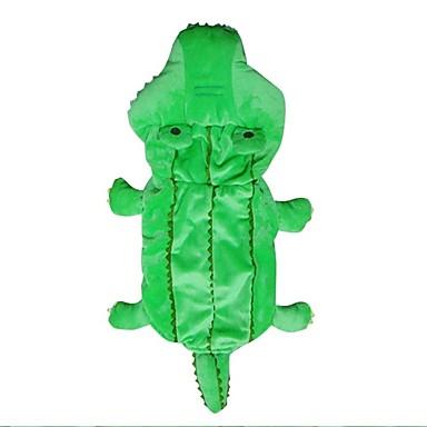 Hund Kostüme Hundekleidung Warm Cosplay Cartoon Design Grün Kostüm Für Haustiere