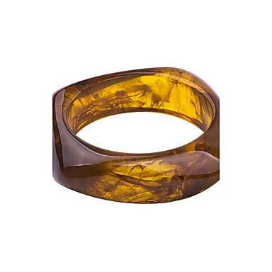 للمرأة أساور مجوهرات مخصص كلاسيكي بوهيميان أساسي أسلوب بسيط راتينج Circle Shape مجوهرات زفاف عيد ميلاد تخرج الغير خطوبة هدية يوميا فضفاض