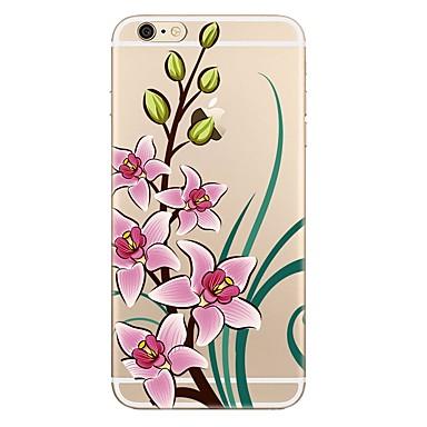 غطاء من أجل Apple iPhone 7 Plus iPhone 7 شفاف نموذج غطاء خلفي زهور ناعم TPU إلى iPhone 7 Plus iPhone 7 iPhone 6s Plus