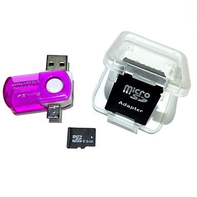 Card de memorie microsdh card de 8 GB, cu cititor de carduri usb de 2 in 1 usb otg