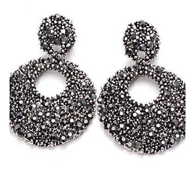 Damen Tropfen-Ohrringe Sexy individualisiert überdimensional Bling Bling Aleación Runde Form Schmuck Für Party Bühne Klub