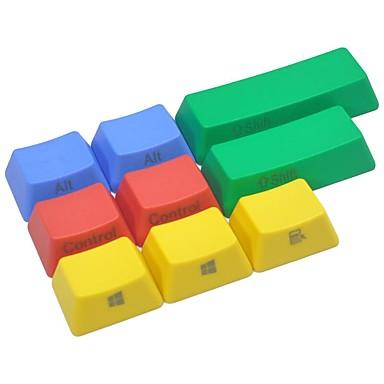 9 مفاتيح بت كيكاب الملونة مجموعة لوحة المفاتيح الميكانيكية الجانب المطبوعة