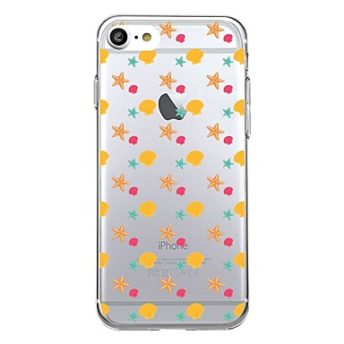 Maska Pentru Apple Transparent Model Carcasă Spate Țiglă Model Geometric Moale TPU pentru iPhone 7 Plus iPhone 7 iPhone 6s Plus iPhone 6