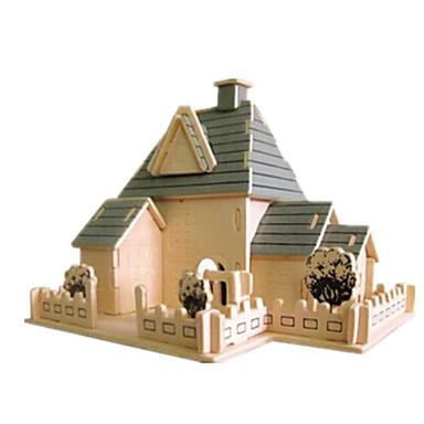 Puzzle 3D Puzzle Modelul lemnului Jucarii Clădire celebru Casă Arhitectură 3D Lemn Lemn natural Unisex Băieți Bucăți