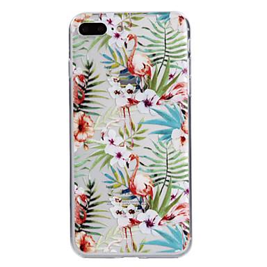 Maska Pentru Apple iPhone 7 Plus iPhone 7 Transparent Model Capac Spate Flamingo Floare Moale TPU pentru iPhone 7 Plus iPhone 7 iPhone 6s