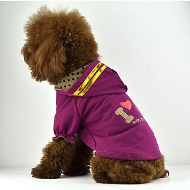 Hund T-shirt Kapuzenshirts Hundekleidung Buchstabe & Nummer Purpur Braun Rosa Baumwolle Kostüm Für Haustiere Herrn Damen Lässig/Alltäglich