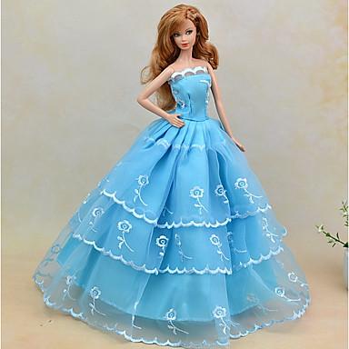 Rochii Rochii Pentru Barbie Doll Amestec In/Bumbac Material nețesut Satin/Tul Rochie Pentru Fata lui păpușă de jucărie