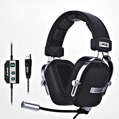 ajazz-ax300 Stirnband Mit Kabel Kopfhörer Dynamisch Aluminum Alloy Stoff Spielen KopfhörerErgonomische Comfort-Fit Mit Mikrofon Mit