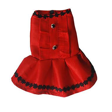 Hond Jurken Hondenkleding Casual/Dagelijks Prinses Zwart Fuchsia Rood Kostuum Voor huisdieren