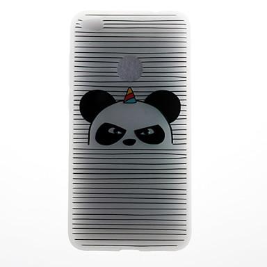 Caz pentru huawei p8 lite (2017) p10 carcasă caz panda dungă model 3d relief lapte tpu material caz telefon pentru huawei p10 lite p10