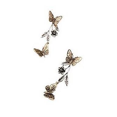 للمرأة أقراط قطرة مجوهرات تصميم بسيط موضة اسلوب لطيف المتضخم سبيكة فراشة مجوهرات من أجل يوميا مواعدة عطلة ذهاب للخارج