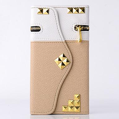 Hoesje voor samsung notitie 5/4 hoesje kaarthouder portemonnee met tribune flip full body hoesje vaste kleur geometrisch patroon bloem
