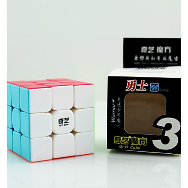 cubul lui Rubik QIYI Warrior 3*3*3 Cub Viteză lină Cuburi Magice Jucării Educaționale Alină Stresul puzzle cub Competiție Cadou Unisex