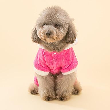 Câine Costume Salopete Îmbrăcăminte Câini Desene Animate Fucsia Material Din Fâș Jos Costume Pentru animale de companie Bărbați Pentru
