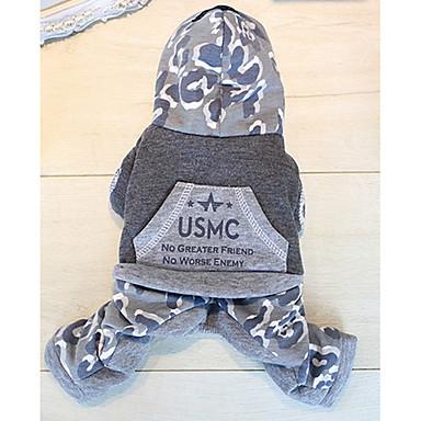 Hund Overall Hundekleidung Lässig/Alltäglich Buchstabe & Nummer Grau