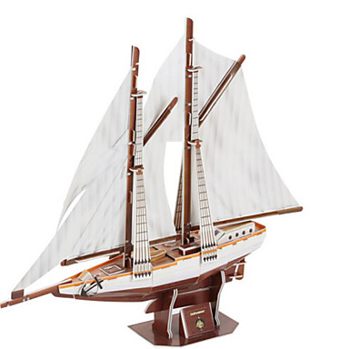 3D-puzzels Legpuzzel Speeltjes Oorlogsschip Schip 3D Natuurlijk Hout Unisex Stuks
