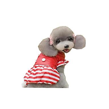 Hund Overall Hundekleidung Streifen Schwarz Gelb Rot Rosa Polyester Daune Kostüm Für Haustiere Damen Lässig/Alltäglich