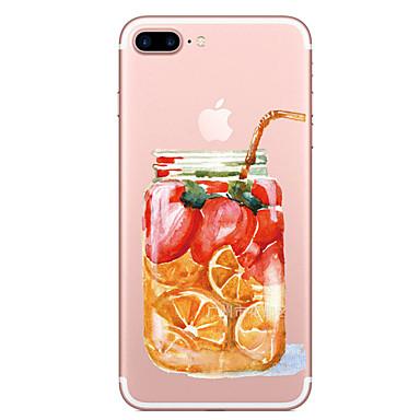 لتفاح إفون 7 7 زائد حالة غطاء زجاجة الفاكهة نمط رسمت اختراق عالية تبو المواد لينة حالة الهاتف حالة آيفون 6 ثانية 6 زائد