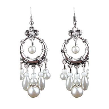 Pentru femei Cercei Picătură Imitație de Perle Zirconiu Cubic La modă Personalizat Hipoalergenic AliajCircle Shape Round Shape Prinzător