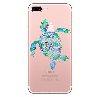 Caz pentru Apple iPhone 7 7 plus caz acoperă țestoase model pictat de înaltă penetrare tpu material caz moale caz telefon pentru iphone 6s